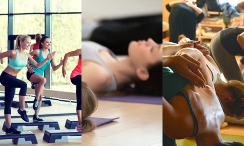 Fitness, Bewegung, Entspannung